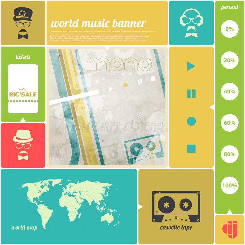 Παγκόσμια μουσική ελεύθερη απεικόνιση δικαιώματος