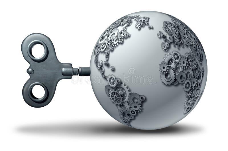 Παγκόσμια οικονομική επιχείρηση απεικόνιση αποθεμάτων