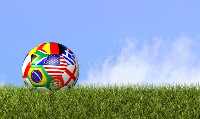 Παγκόσμια ποδόσφαιρο/ποδόσφαιρο διανυσματική απεικόνιση