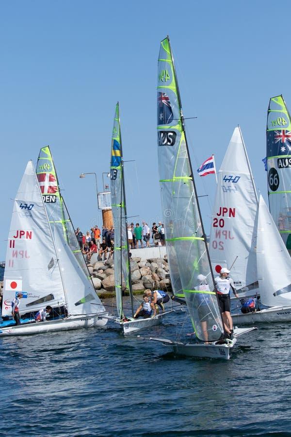 2018 παγκόσμια πρωταθλήματα ναυσιπλοΐας Hempel στοκ φωτογραφίες με δικαίωμα ελεύθερης χρήσης