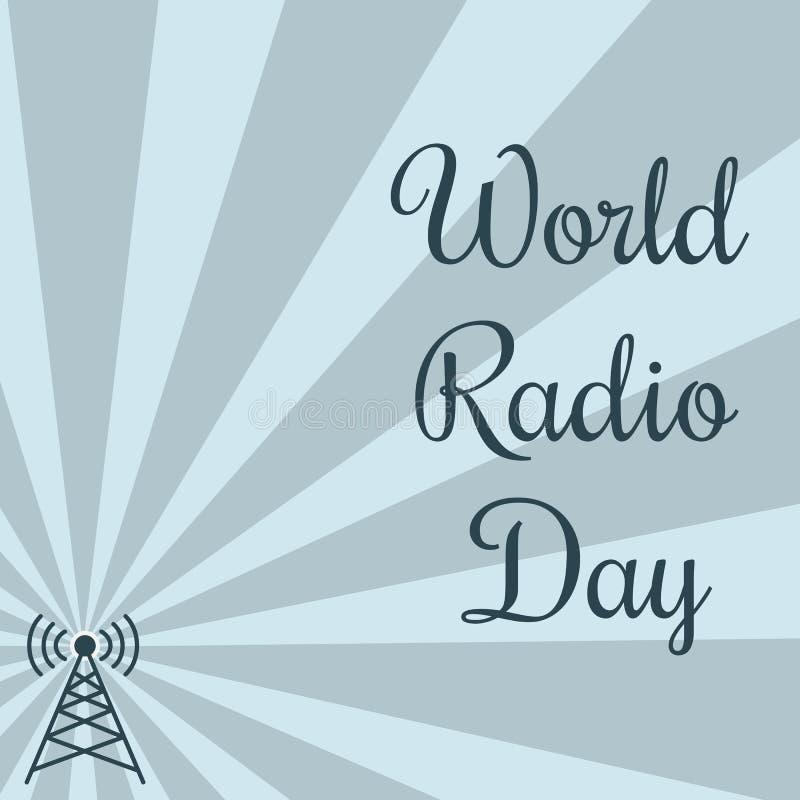Παγκόσμια ραδιο ημέρα πύργος του Βερολίνου απεικόνιση αποθεμάτων