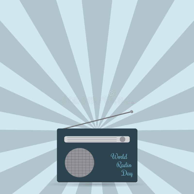 Παγκόσμια ραδιο ημέρα πύργος του Βερολίνου διανυσματική απεικόνιση