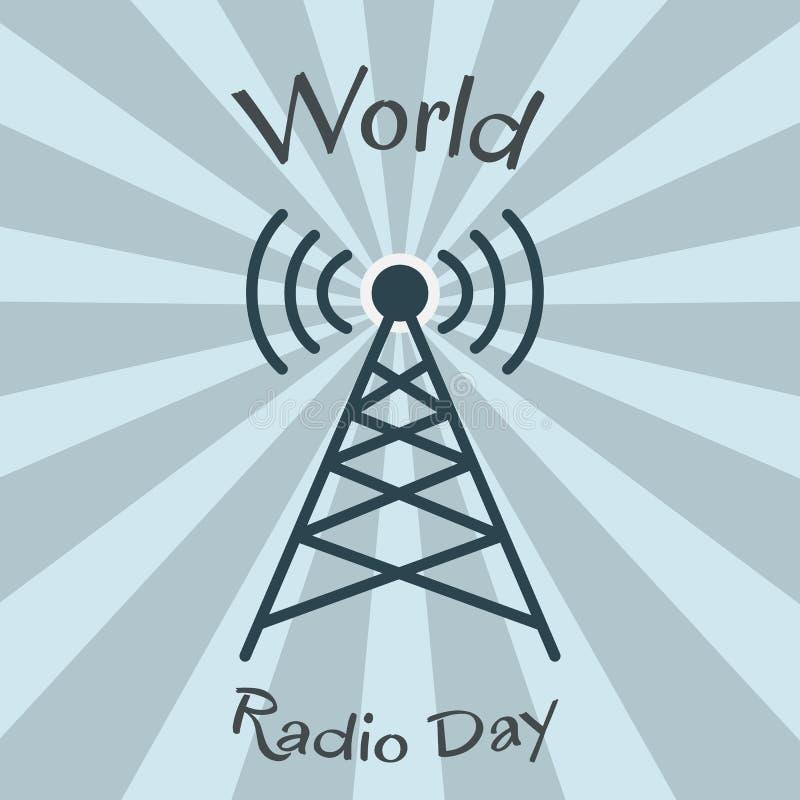 Παγκόσμια ραδιο ημέρα πύργος του Βερολίνου ελεύθερη απεικόνιση δικαιώματος
