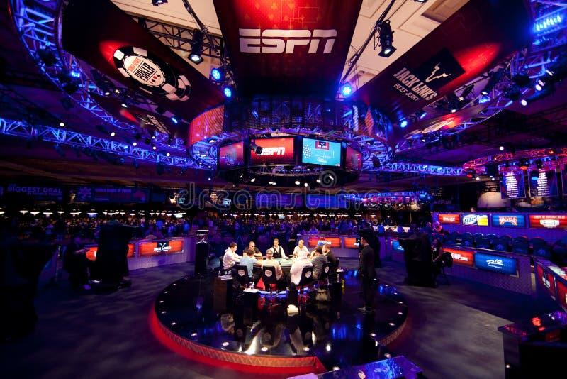Παγκόσμια σειρά πόκερ (WSOP) 2012 στο Ρίο στοκ εικόνα