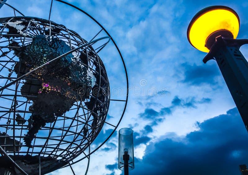 Παγκόσμια σφαίρα πόλεων της Νέας Υόρκης στοκ εικόνες