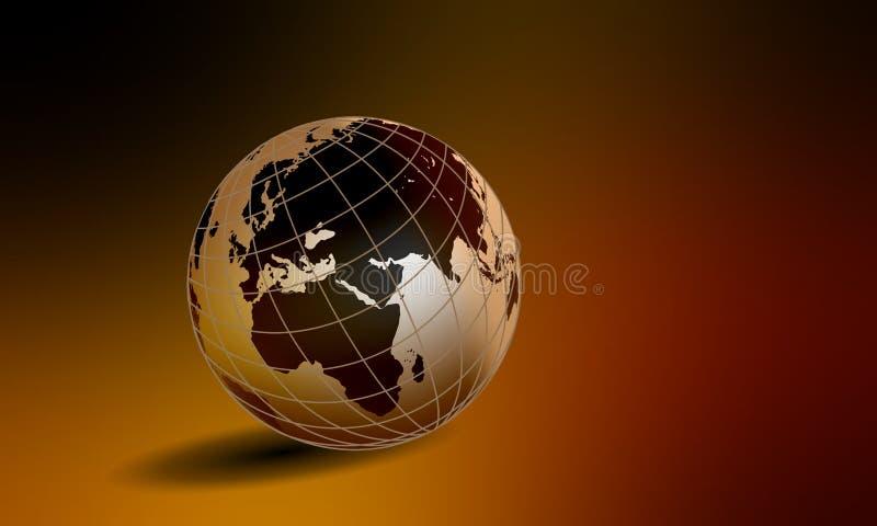 Παγκόσμια σφαίρα στο αγροτικό σκιασμένο υπόβαθρο r ελεύθερη απεικόνιση δικαιώματος