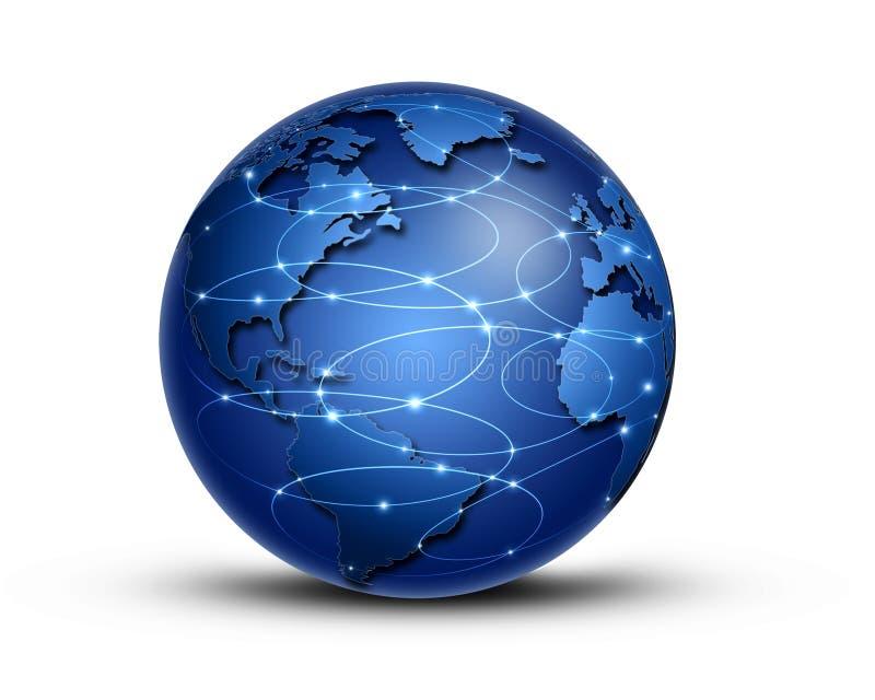 Παγκόσμια σύνδεση ελεύθερη απεικόνιση δικαιώματος
