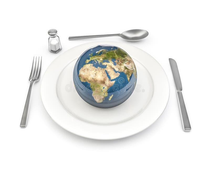 Παγκόσμια τρόφιμα ελεύθερη απεικόνιση δικαιώματος