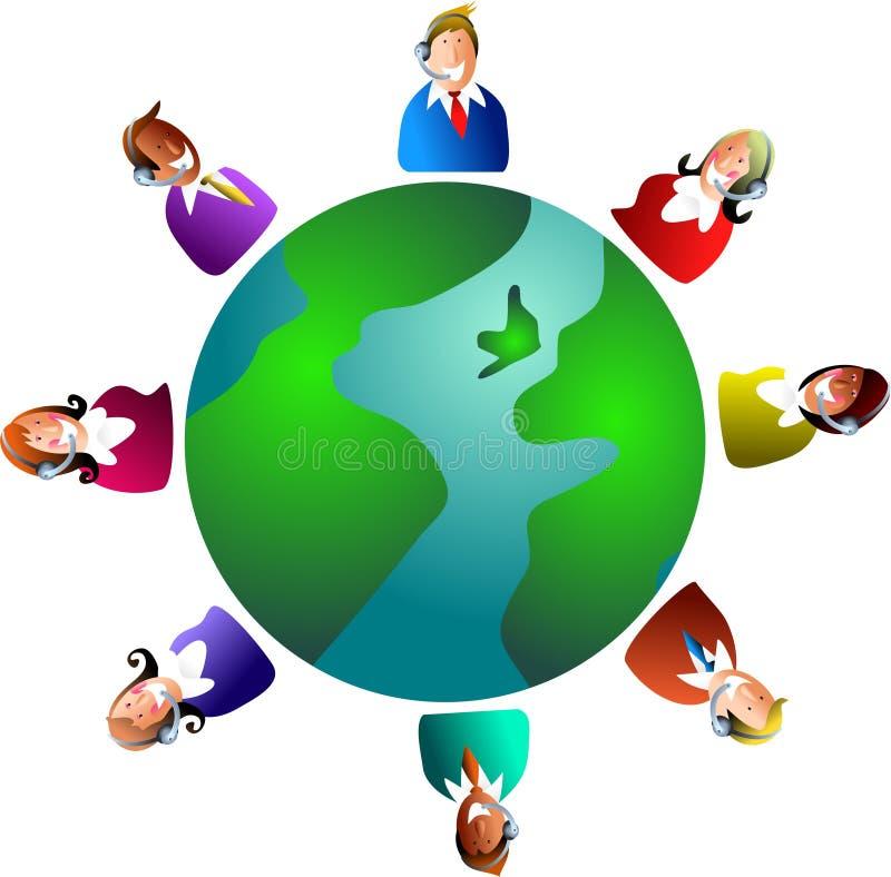παγκόσμια υπηρεσία πελα&ta ελεύθερη απεικόνιση δικαιώματος