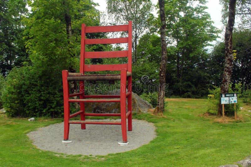 Παγκόσμια ` s μεγαλύτερη καρέκλα σε Hjelmeland, Νορβηγία στοκ φωτογραφία με δικαίωμα ελεύθερης χρήσης