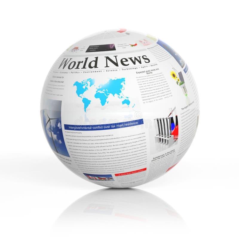 Παγκόσμιες ειδήσεις απεικόνιση αποθεμάτων