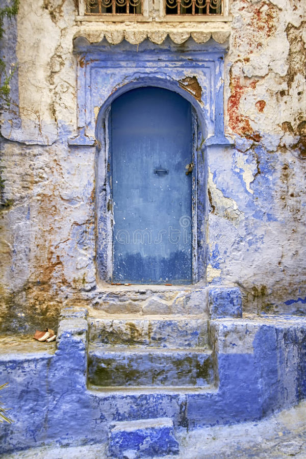 Παγκόσμιες πόλεις, Chefchaouen στο Μαρόκο στοκ εικόνα με δικαίωμα ελεύθερης χρήσης