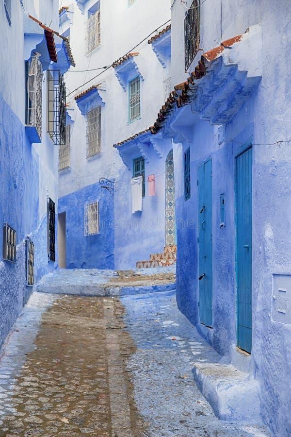 Παγκόσμιες πόλεις, Chefchaouen στο Μαρόκο στοκ φωτογραφία με δικαίωμα ελεύθερης χρήσης