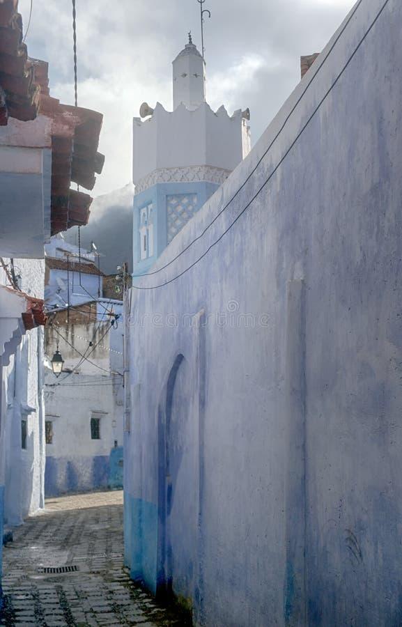 Παγκόσμιες πόλεις, Chefchaouen στο Μαρόκο στοκ φωτογραφίες με δικαίωμα ελεύθερης χρήσης