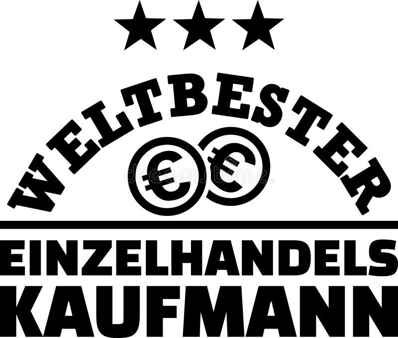 Παγκόσμιος καλύτερος λιανικός πωλητής γερμανικά απεικόνιση αποθεμάτων