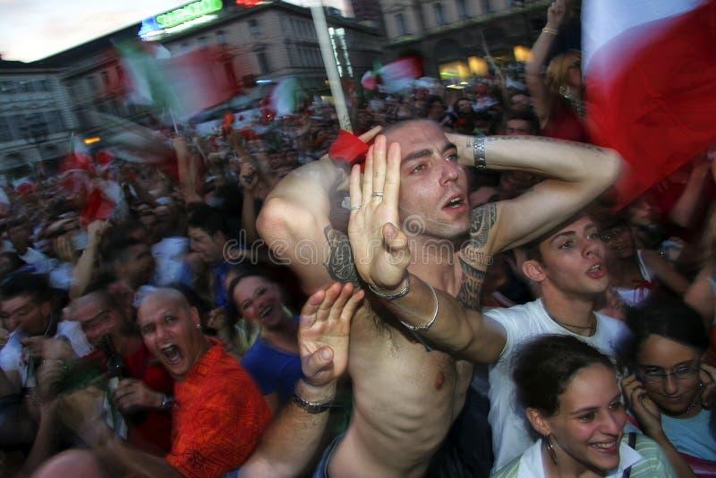 Παγκόσμιος πρωτοπόρος ποδοσφαίρου της Ιταλίας σε 09 july2006 στοκ εικόνες με δικαίωμα ελεύθερης χρήσης