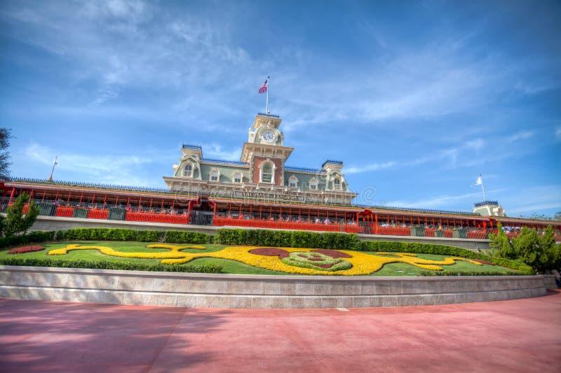 Παγκόσμιος σταθμός τρένου της Disney Walt στοκ εικόνα