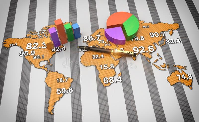 Παγκόσμιος σφαιρικός οικονομικός ελεύθερη απεικόνιση δικαιώματος