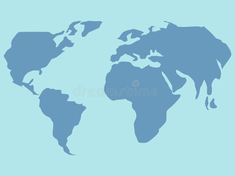 Παγκόσμιος χάρτης Μάθημα γεωγραφίας   r ελεύθερη απεικόνιση δικαιώματος