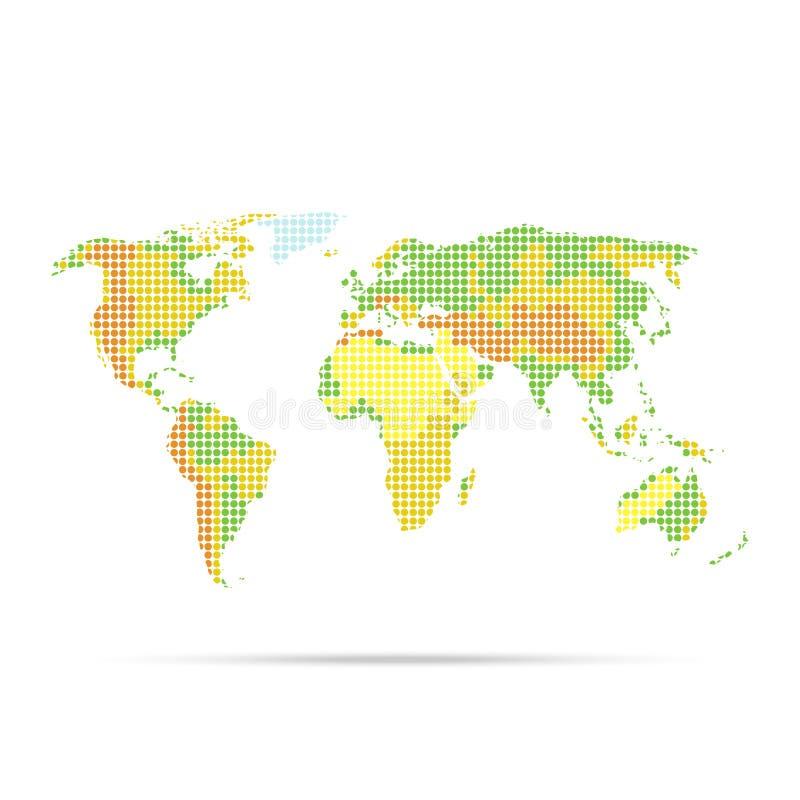 Παγκόσμιος χάρτης με την ένδειξη της ανακούφισης απεικόνιση αποθεμάτων