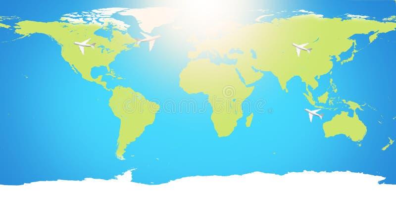 Παγκόσμιος χάρτης πλανήτη Γη Στοιχεία αυτής της εικόνας που εφοδιάζεται από τη NASA απεικόνιση αποθεμάτων
