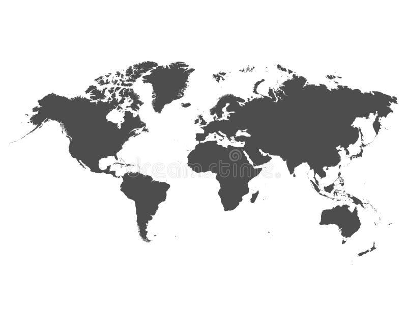Παγκόσμιος χάρτης στο άσπρο υπόβαθρο o διανυσματική απεικόνιση