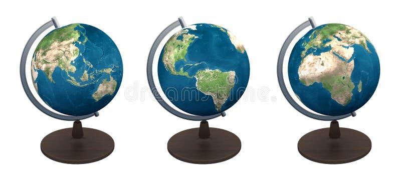 Παγκόσμιος χάρτης σφαιρών ελεύθερη απεικόνιση δικαιώματος