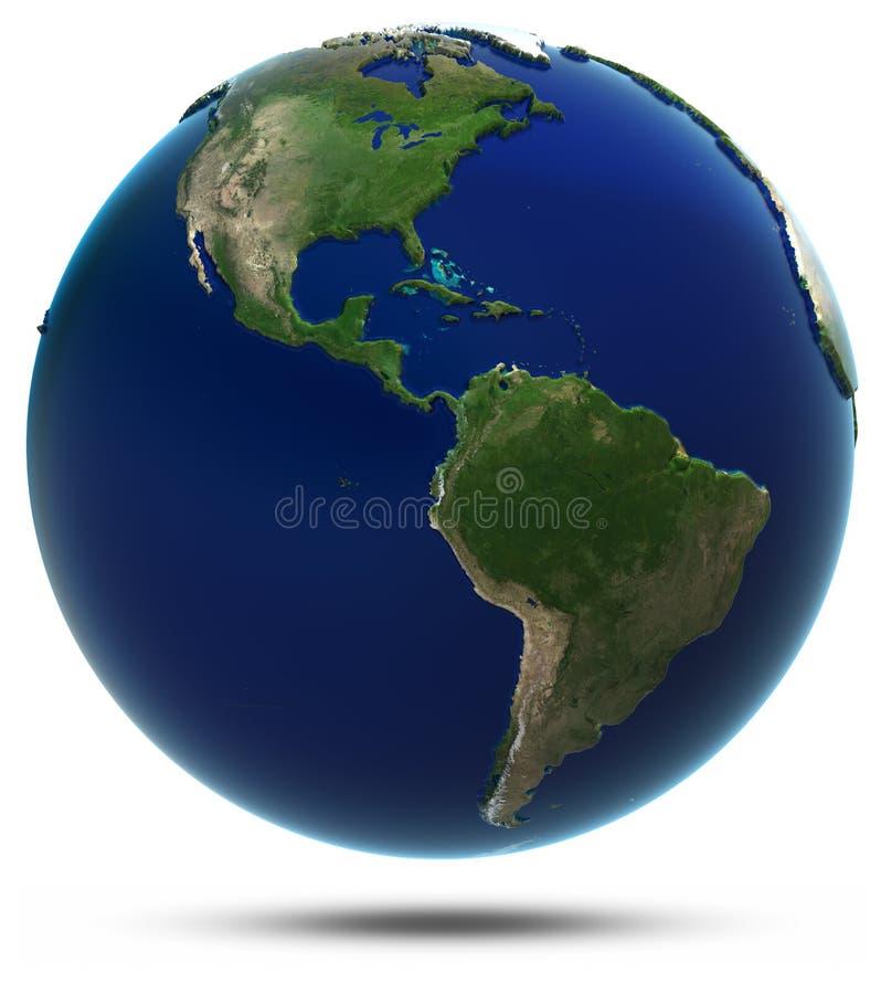 Παγκόσμιος χάρτης της Αμερικής διανυσματική απεικόνιση
