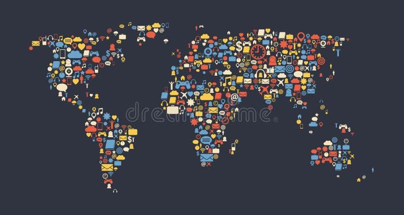 Παγκόσμιος χάρτης ελεύθερη απεικόνιση δικαιώματος