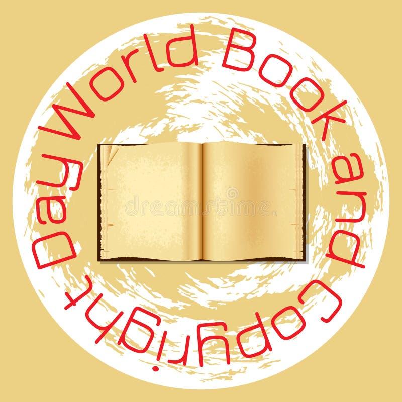 Παγκόσμιο βιβλίο και ημέρα πνευματικών δικαιωμάτων ελεύθερη απεικόνιση δικαιώματος