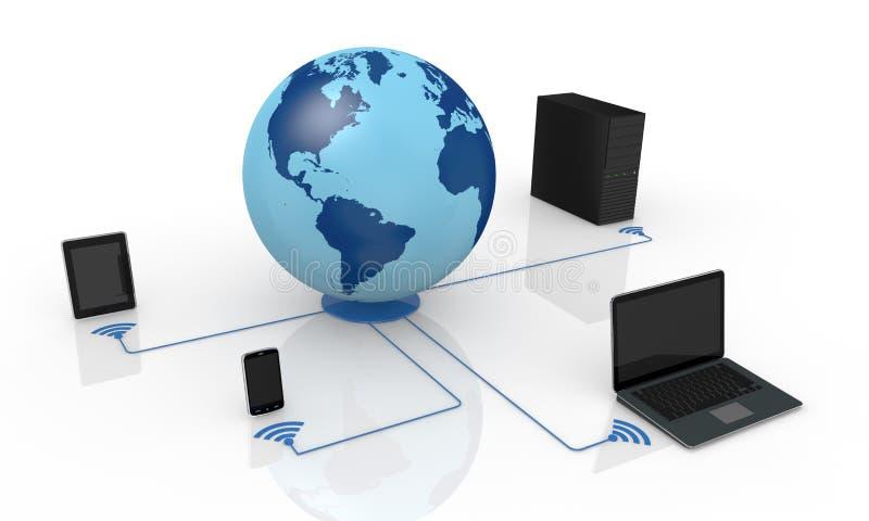 παγκόσμιο δίκτυο έννοιας ελεύθερη απεικόνιση δικαιώματος