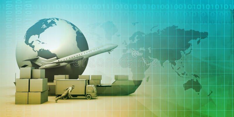 Παγκόσμιο δίκτυο διανομής διανυσματική απεικόνιση