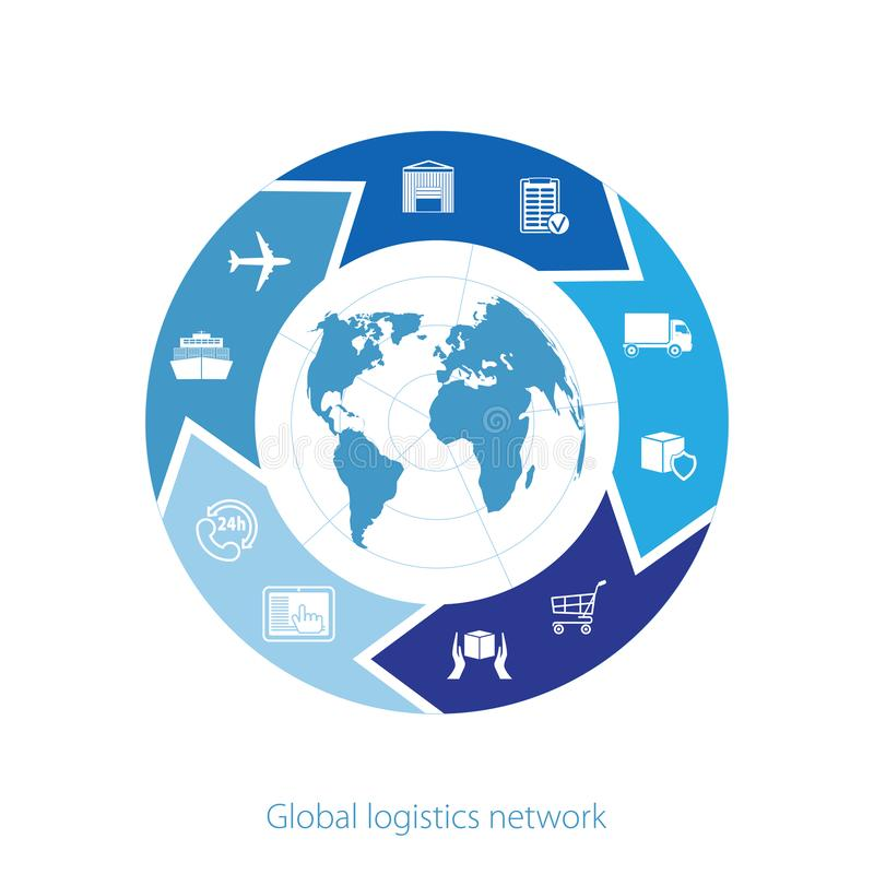 Παγκόσμιο δίκτυο διοικητικών μεριμνών Σφαιρική σύνδεση συνεργασίας διοικητικών μεριμνών χαρτών Παρόμοιος παγκόσμιος χάρτης με τα  απεικόνιση αποθεμάτων