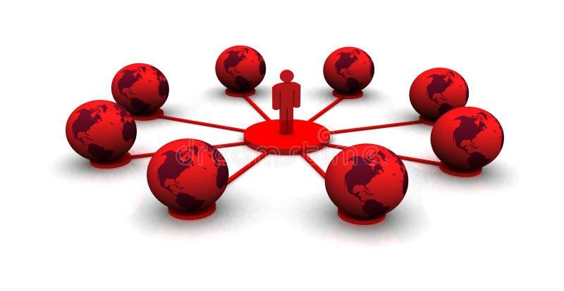Παγκόσμιο δίκτυο υπολογιστών διανυσματική απεικόνιση