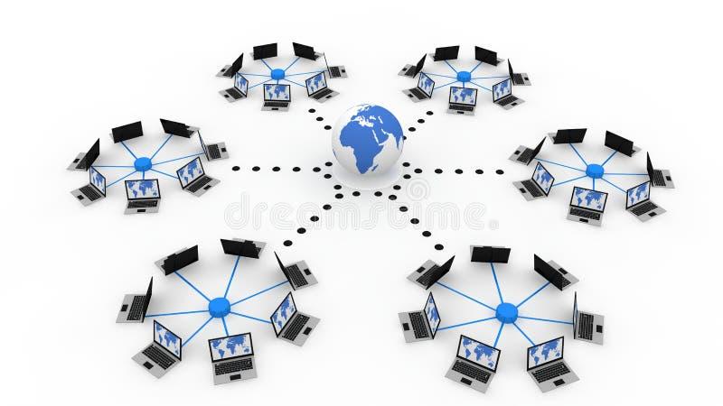 παγκόσμιο δίκτυο υπολ&omicron διανυσματική απεικόνιση