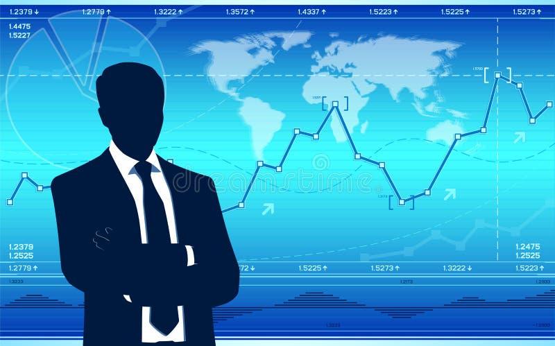 Παγκόσμιο επιχειρηματικό πεδίο διανυσματική απεικόνιση