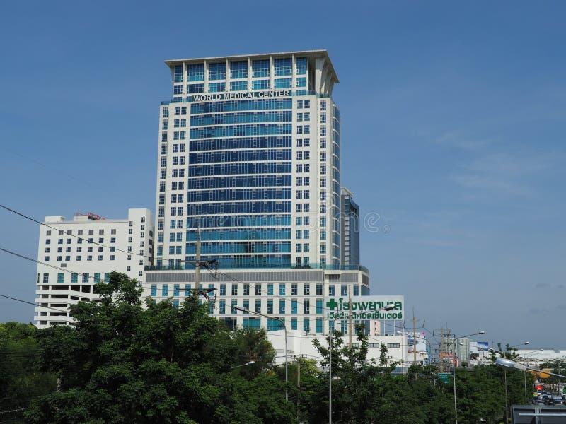 Παγκόσμιο ιατρικό κέντρο, μέρος του νοσοκομείου αλυσίδων της Μπανγκόκ στοκ εικόνα