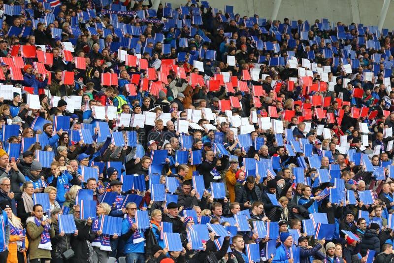 Παγκόσμιο Κύπελλο 2018 που είναι κατάλληλο: Ισλανδία β Ουκρανία στο Ρέικιαβικ στοκ εικόνα με δικαίωμα ελεύθερης χρήσης