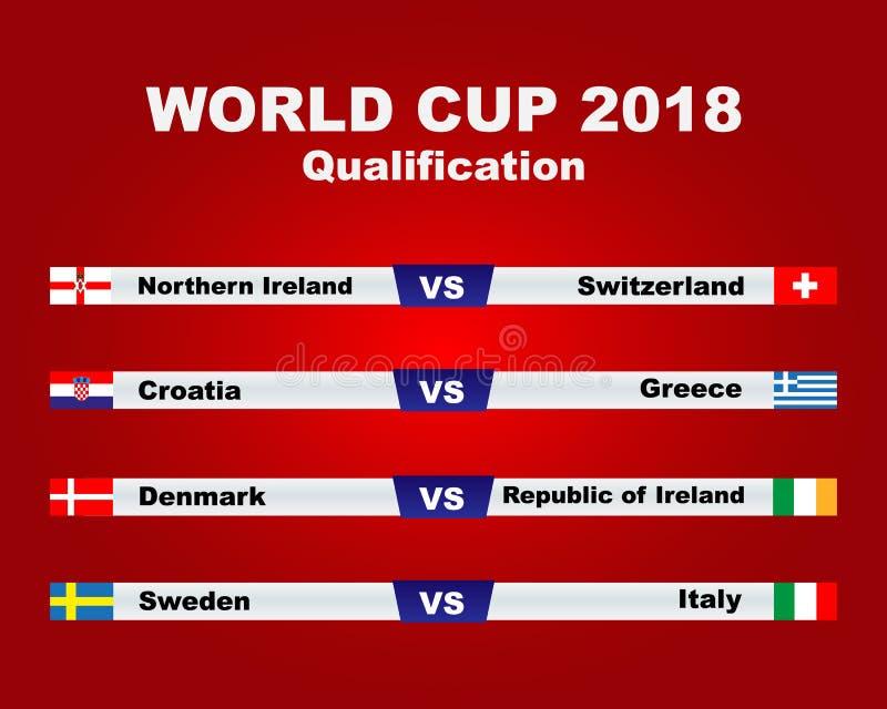 Παγκόσμιο Κύπελλο 2018 διανυσματική απεικόνιση