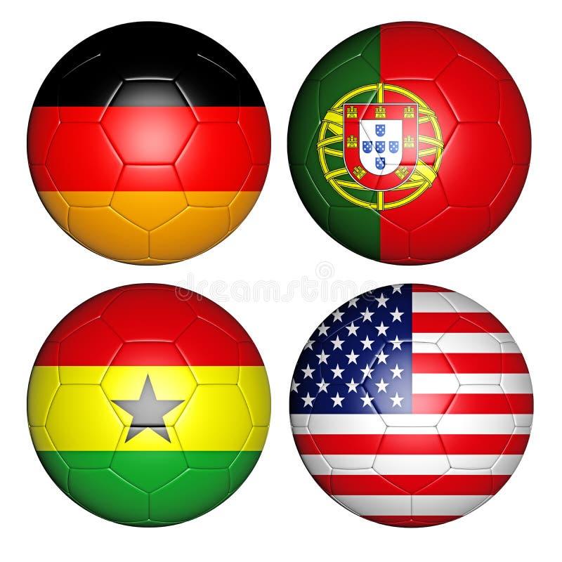 Παγκόσμιο Κύπελλο 2014 ομάδα Γ διανυσματική απεικόνιση