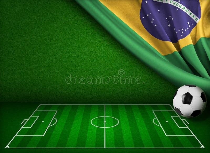 Παγκόσμιο Κύπελλο ποδοσφαίρου στην έννοια της Βραζιλίας απεικόνιση αποθεμάτων