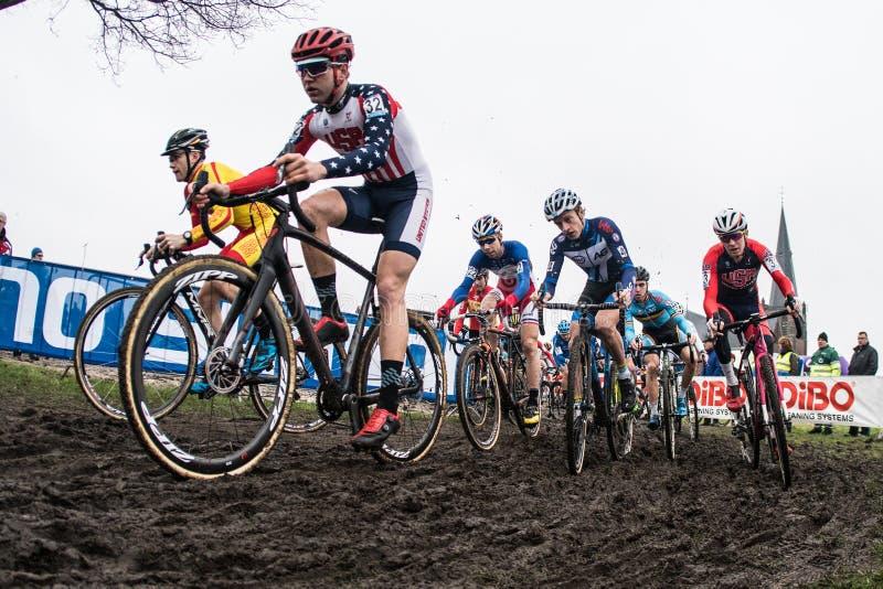 Παγκόσμιο Κύπελλο UCI Cyclocross - Hoogerheide, Κάτω Χώρες στοκ φωτογραφία