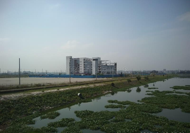 Παγκόσμιο πανεπιστήμιο του Μπανγκλαντές Uttara στοκ εικόνες