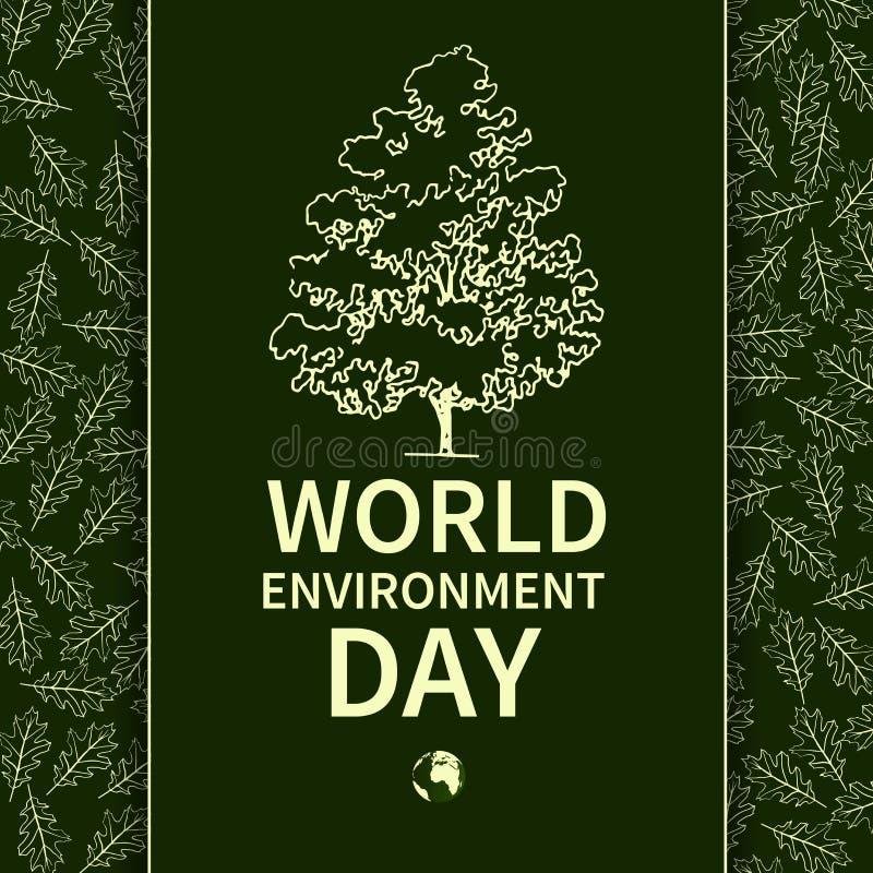 Παγκόσμιο περιβάλλον ημέρα-02 διανυσματική απεικόνιση