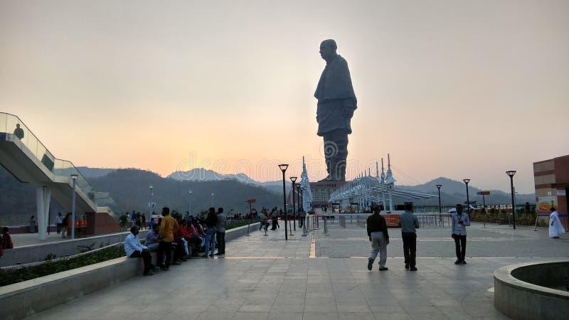 Παγκόσμιο πιό ψηλό άγαλμα το άγαλμα της ενότητας στοκ φωτογραφία
