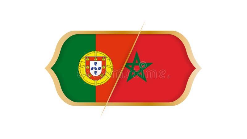 Παγκόσμιο πρωτάθλημα Πορτογαλία ποδοσφαίρου εναντίον του Μαρόκου r ελεύθερη απεικόνιση δικαιώματος