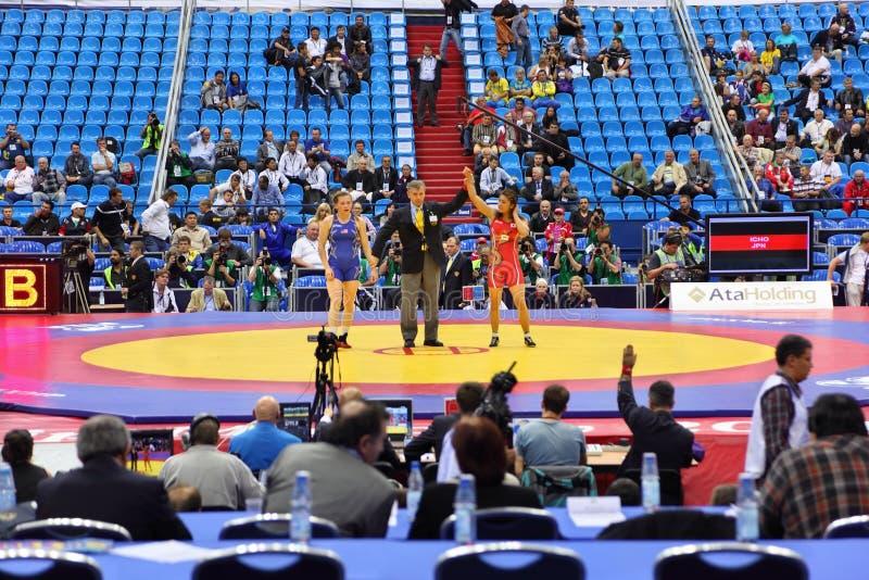 Παγκόσμιο πρωτάθλημα στην πάλη στοκ φωτογραφίες με δικαίωμα ελεύθερης χρήσης