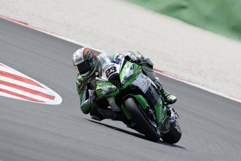 Παγκόσμιο πρωτάθλημα FIM Superbike - ελεύθερη 3η σύνοδος πρακτικής στοκ φωτογραφία με δικαίωμα ελεύθερης χρήσης