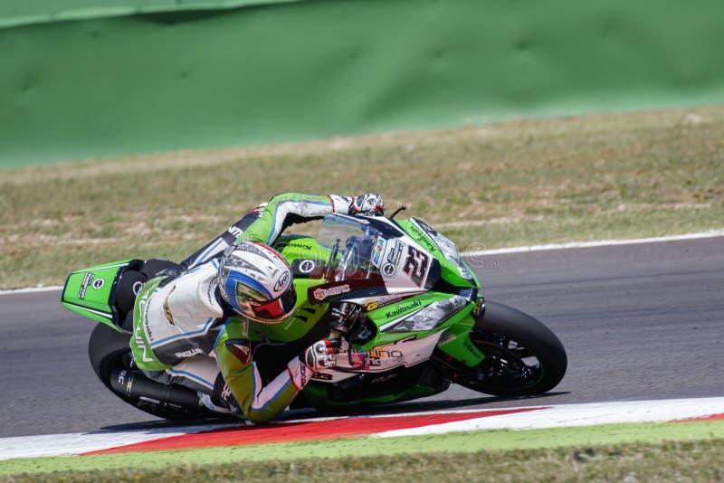 Παγκόσμιο πρωτάθλημα FIM Superbike - ελεύθερη 4η σύνοδος πρακτικής στοκ εικόνες με δικαίωμα ελεύθερης χρήσης
