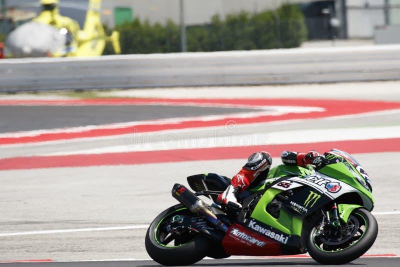 Παγκόσμιο πρωτάθλημα FIM Superbike - ελεύθερη 4η σύνοδος πρακτικής στοκ εικόνες
